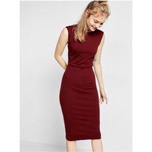 Knit Zip-Back Express Dress